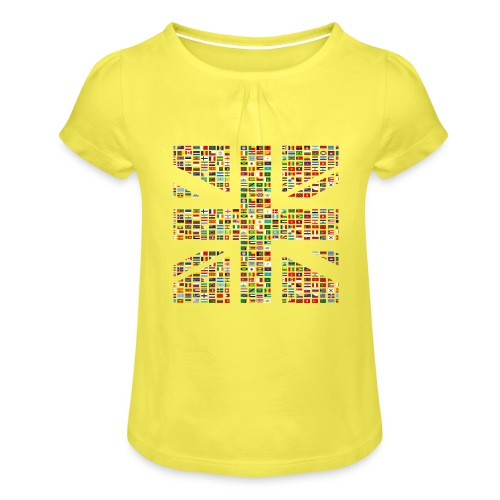 The Union Hack - Girl's T-Shirt with Ruffles