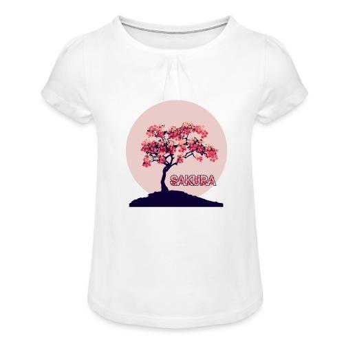 CR - Sakura - Camiseta para niña con drapeado