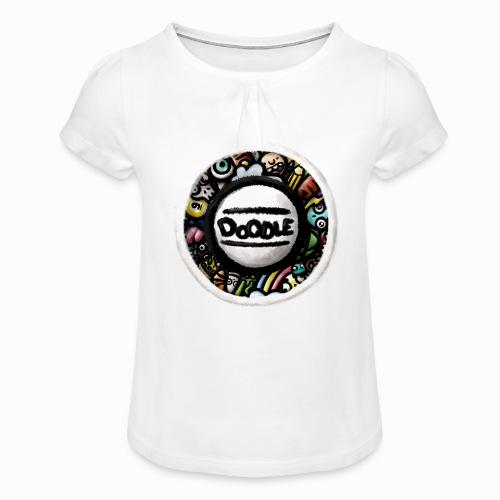 Sticker Doodle Art - T-shirt à fronces au col Fille