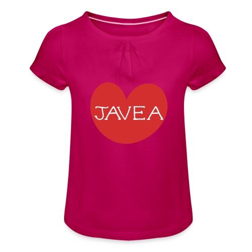 LOVE JAVEA - Camiseta para niña con drapeado