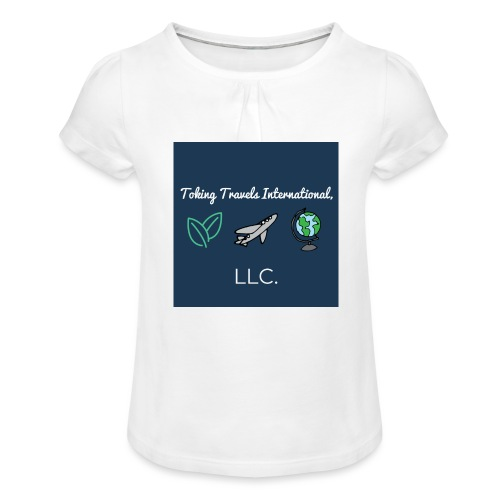NEW Toking Travel Logo! - Girl's T-Shirt with Ruffles