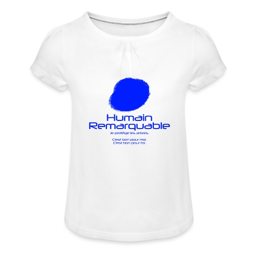 Humain Remarquable - T-shirt à fronces au col Fille