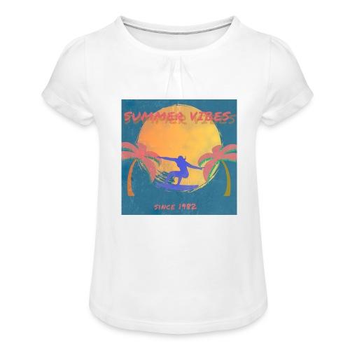 Summer vibes - Camiseta para niña con drapeado