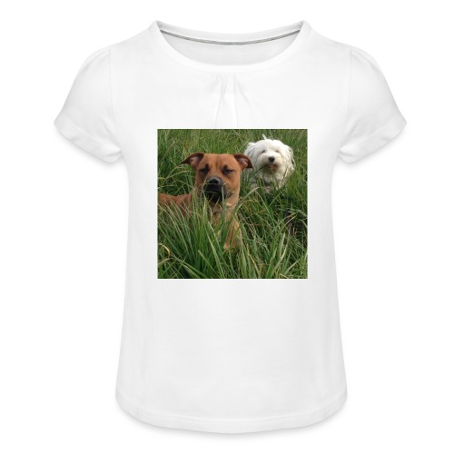 15965945 10154023153891879 8302290575382704701 n - Meisjes-T-shirt met plooien