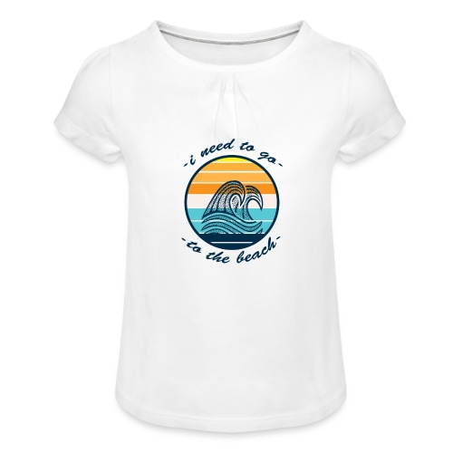 Beach Vibes - Mädchen-T-Shirt mit Raffungen
