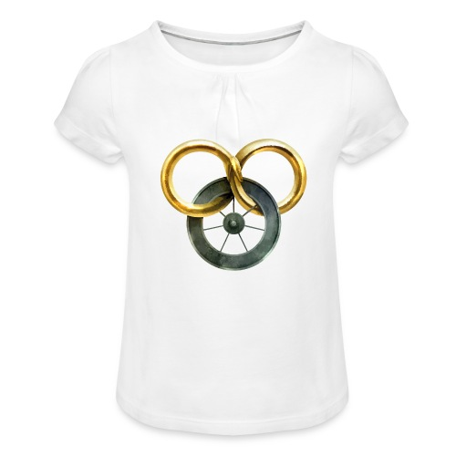 The Wheel of Time - Camiseta para niña con drapeado