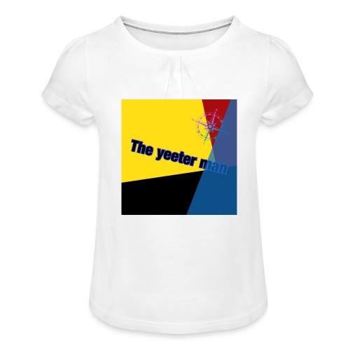 yeet - T-shirt med rynkning flicka