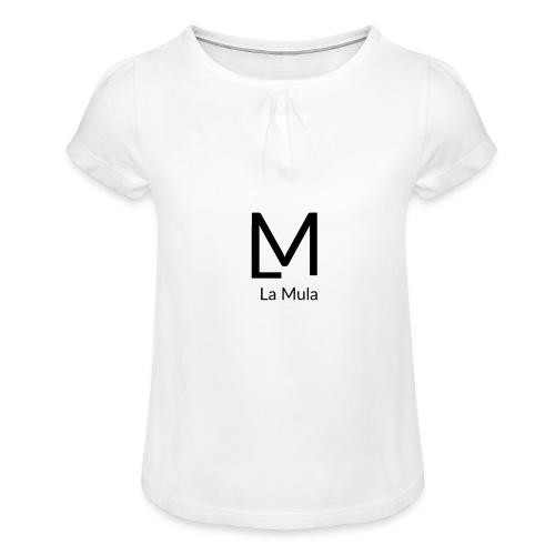 Clàssic - Camiseta para niña con drapeado
