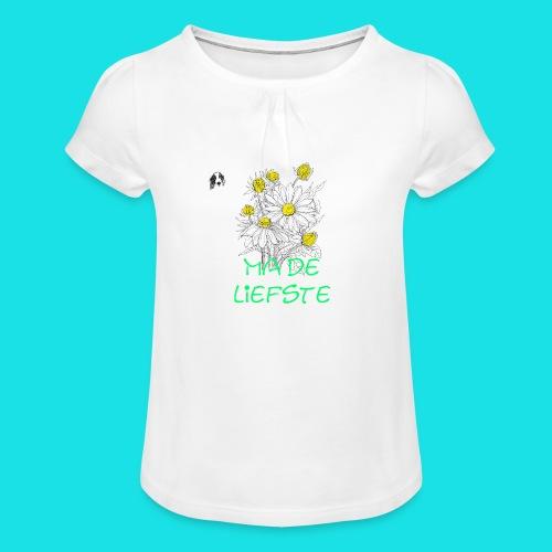 ma de liefste - Meisjes-T-shirt met plooien