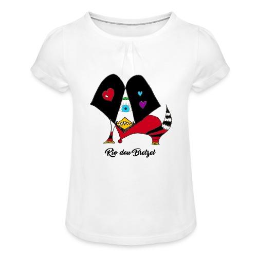 Rio dou Bretzel - T-shirt à fronces au col Fille