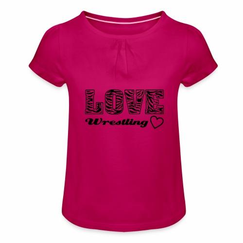 Black Love Wrestling - Mädchen-T-Shirt mit Raffungen
