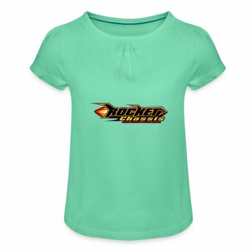 Raketen Chassis - Mädchen-T-Shirt mit Raffungen