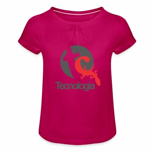 Tecnologia - Mädchen-T-Shirt mit Raffungen