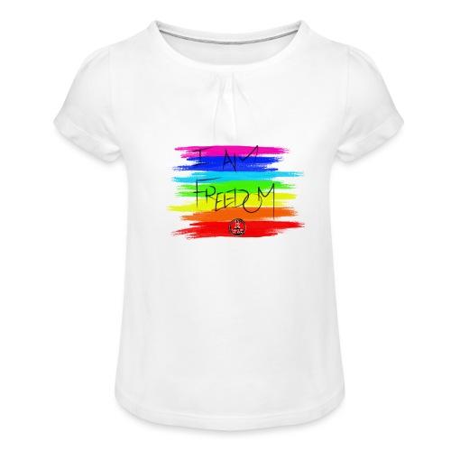 I AM FREEDOM MaitriYoga - T-shirt à fronces au col Fille