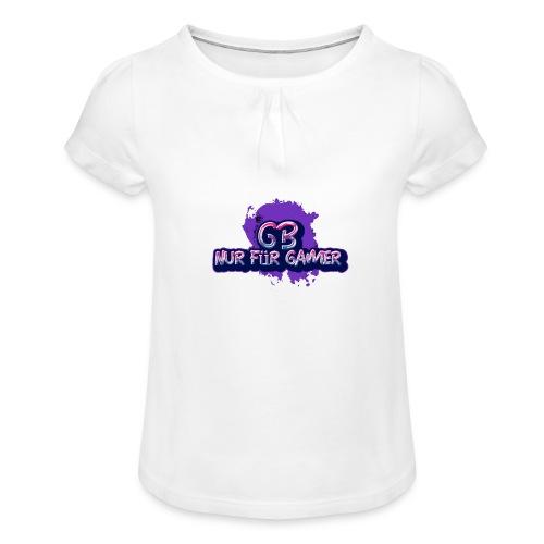 Nur für Gamer Merch - Mädchen-T-Shirt mit Raffungen