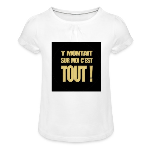 badgemontaitsurmoi - T-shirt à fronces au col Fille