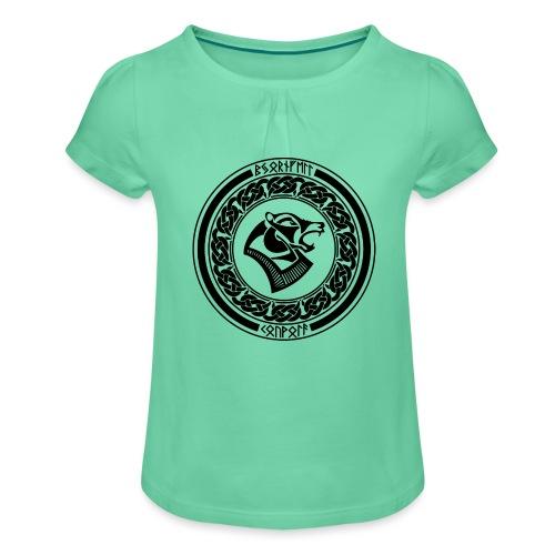 BjornfellRisingBlack - Tyttöjen t-paita, jossa rypytyksiä