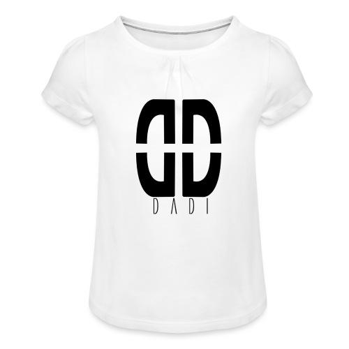 dadi logo png - Mädchen-T-Shirt mit Raffungen