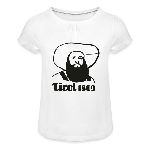 Andreas Hofer Silber1 - Mädchen-T-Shirt mit Raffungen