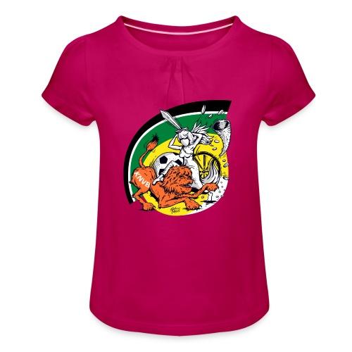 fortunaknvb - Meisjes-T-shirt met plooien