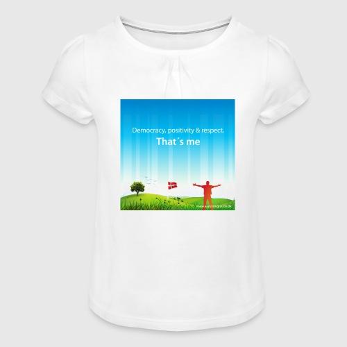 Rolling hills tshirt - Pige T-shirt med flæser