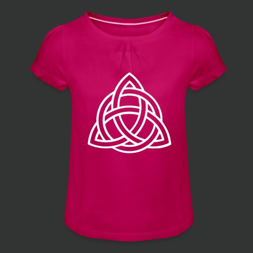 Celtic Knot — Celtic Circle - Girl's T-Shirt with Ruffles