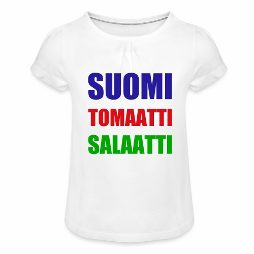 SUOMI SALAATTI tomater - Jente-T-skjorte med frynser