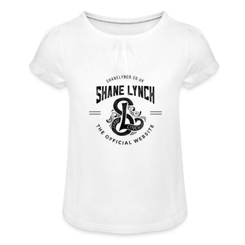 Black - Shane Lynch Logo - Girl's T-Shirt with Ruffles
