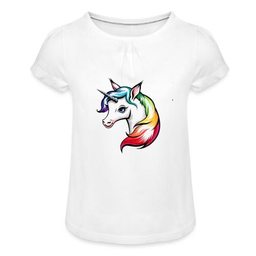 Girls - Girl's T-Shirt with Ruffles