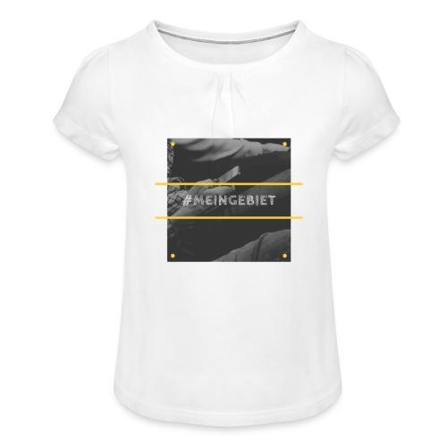 MeinGebiet - Mädchen-T-Shirt mit Raffungen