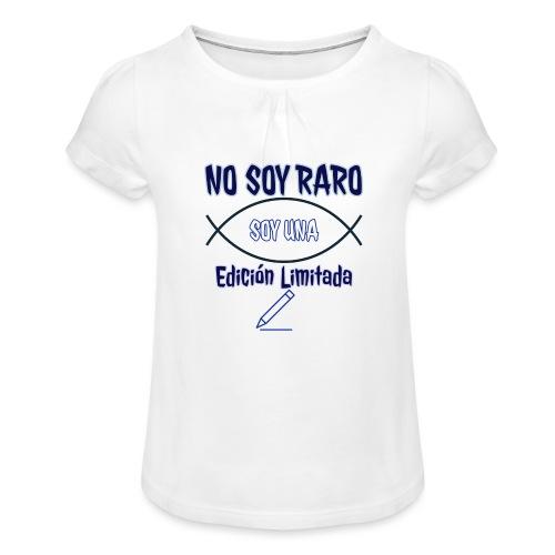 Edicion limitada - Camiseta para niña con drapeado