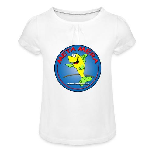 metamera_fish - T-shirt med rynkning flicka