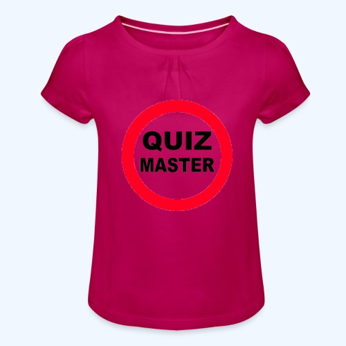 Quiz Master Stop Sign - Girl's T-Shirt with Ruffles