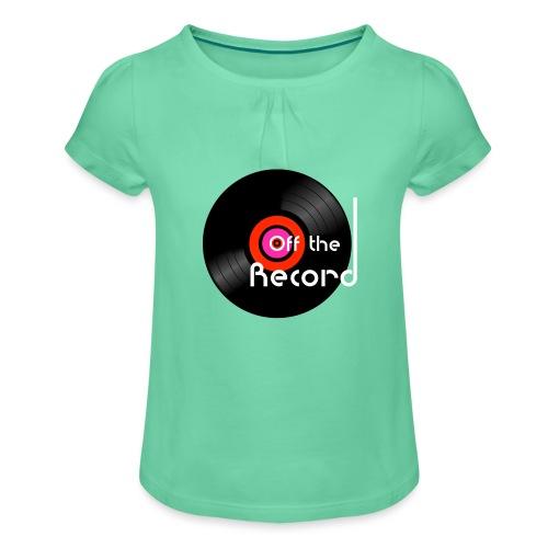 Off the Record - Tyttöjen t-paita, jossa rypytyksiä