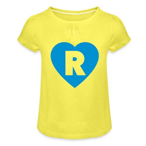 cuoRe - Maglietta da ragazza con arricciatura