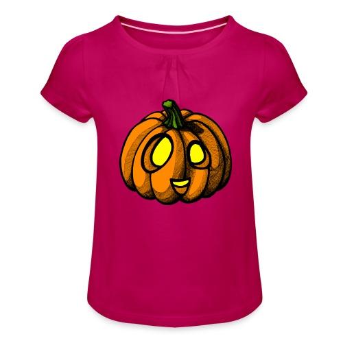 Pumpkin Halloween scribblesirii - Pige T-shirt med flæser