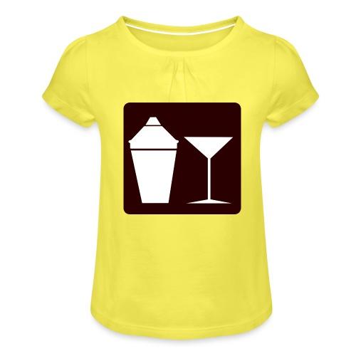 Alkohol - Mädchen-T-Shirt mit Raffungen