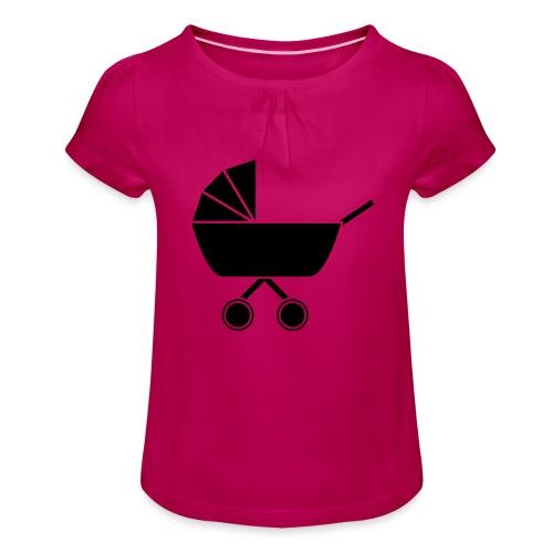 Kinderwagen - Mädchen-T-Shirt mit Raffungen