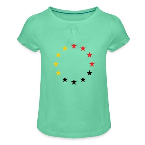 United Europe Tres - Mädchen-T-Shirt mit Raffungen