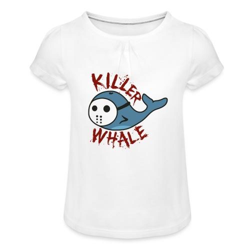 Killer Whale - Mädchen-T-Shirt mit Raffungen