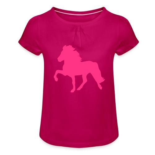Tölter - Mädchen-T-Shirt mit Raffungen