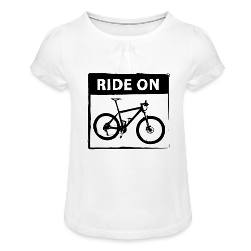 Ride On MTB 1 Color - Mädchen-T-Shirt mit Raffungen
