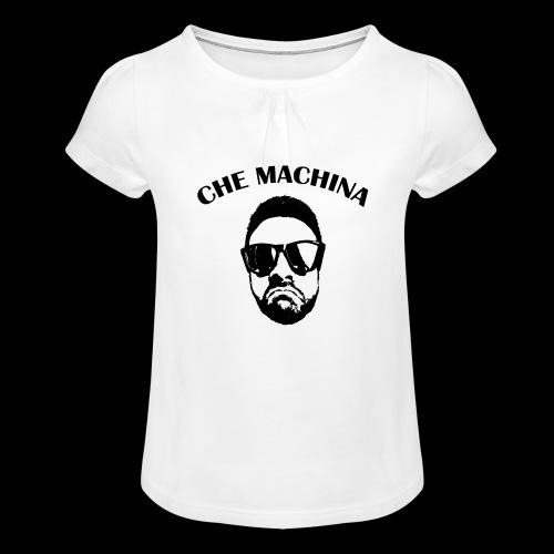 CHE MACHINA - Maglietta da ragazza con arricciatura
