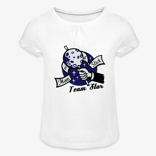 Moon on a Stick - Team Star - Girl's T-Shirt with Ruffles