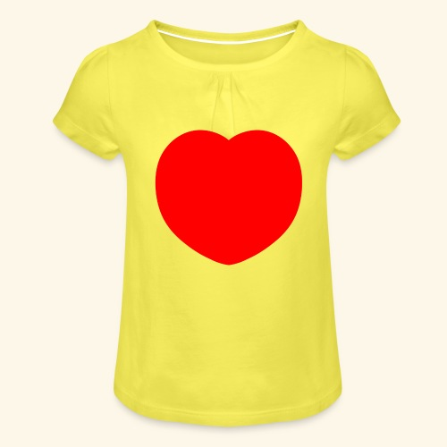 Heart - Mädchen-T-Shirt mit Raffungen