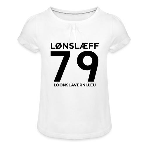 100014365_129748846_loons - Meisjes-T-shirt met plooien