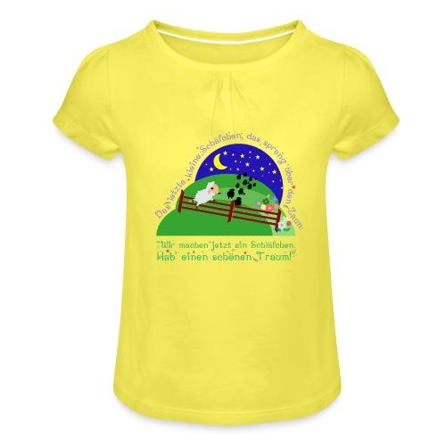 Schäfchen - Mädchen-T-Shirt mit Raffungen