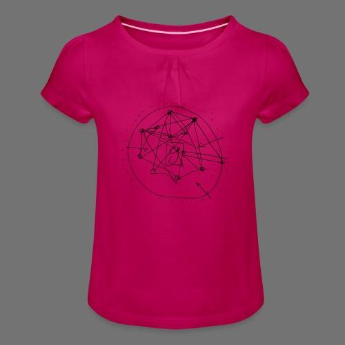 SEO strategia No.1 (musta) - Tyttöjen t-paita, jossa rypytyksiä