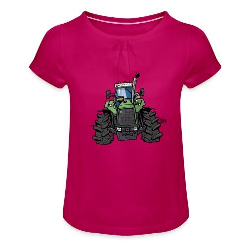 0145 F - Meisjes-T-shirt met plooien