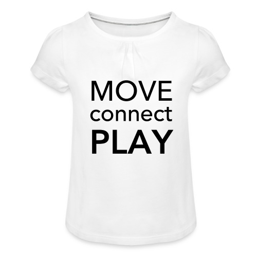 Move Connect Play - AcroYoga International - Girl's T-Shirt with Ruffles